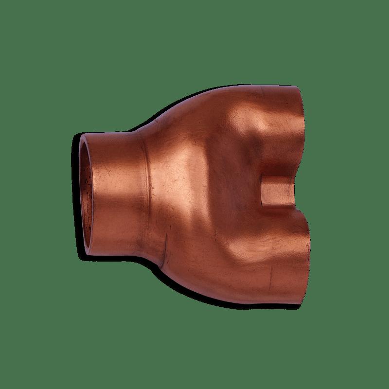 <strong>VERTEILERROHR (HOSENSTÜCK)</strong>   (Armaturen)   Ausgangswerkstoff Kupferrohr   Sf-Cu Ø 25 x 1,5 mm
